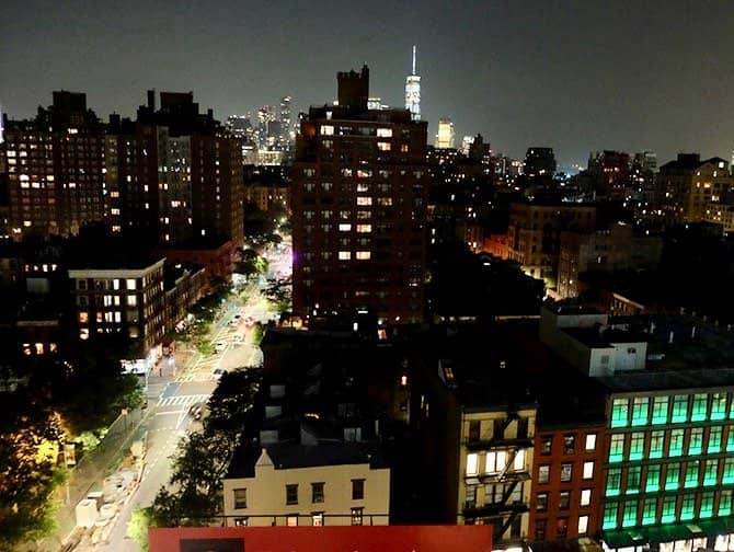 West Village en Nueva York - Vista nocturna