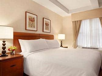 Edison Hotel en Nueva York - cama