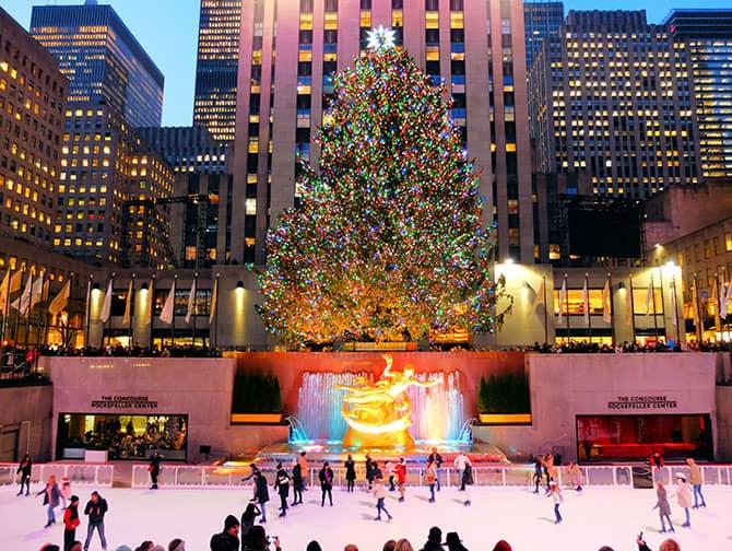 Patinar sobre hielo en Nueva York - Patinando en Rockefeller Center