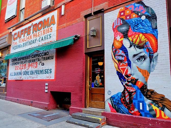 Barrio Little Italy en Nueva York - Mural