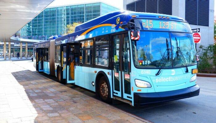 Bus en Nueva York - Bus en 9th Avenue