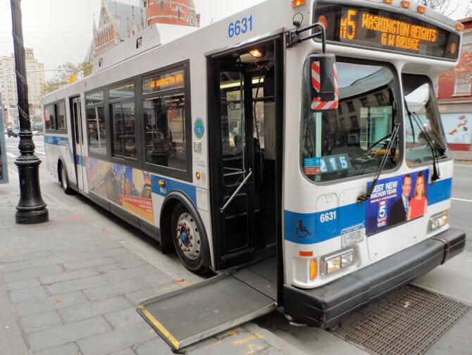 Instalaciones para discapacitados en Nueva York Bus