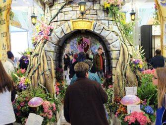 Macy's en Nueva York - Decoraciones del Flower Show