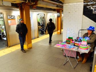 El metro en Nueva York - Andén del metro