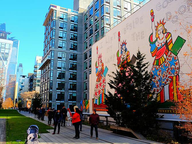 High Line Park en Nueva York - Mural