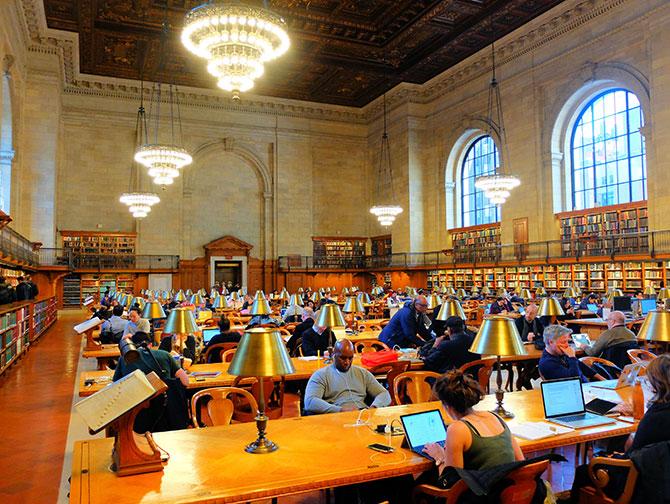 Biblioteca pública en Nueva York - Sala de lectura