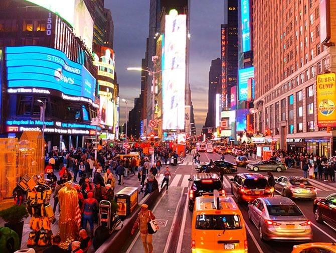 Big Bus en Nueva York - Times Square de noche