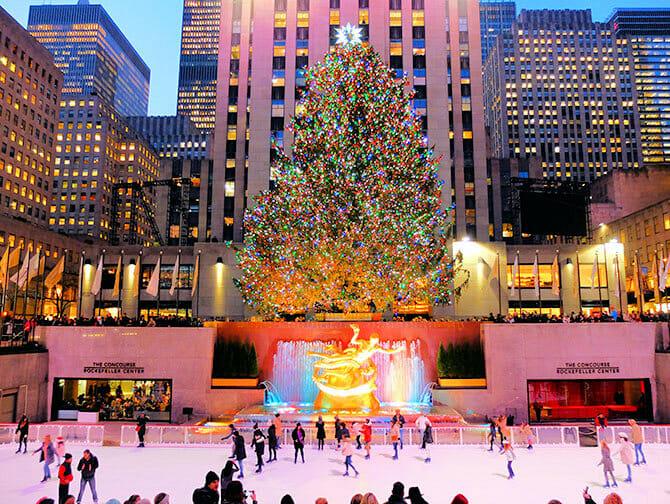 Rockefeller Center in Nueva York - Pista de hielo