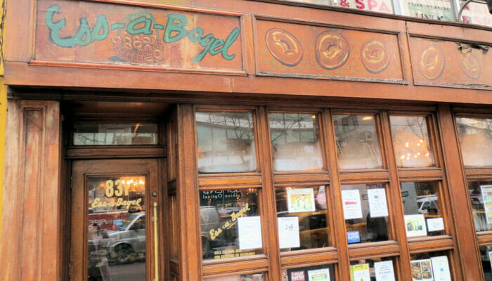 Los mejores bagels de Nueva York - exterior de Ess-a-Bagel