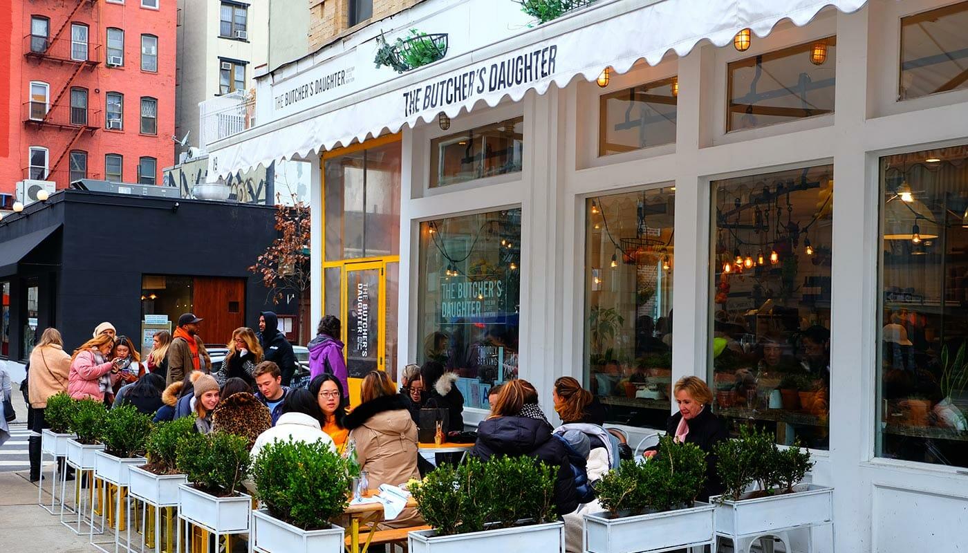 Restaurantes vegetarianos en Nueva York - Terraza The Butcher's Daughter