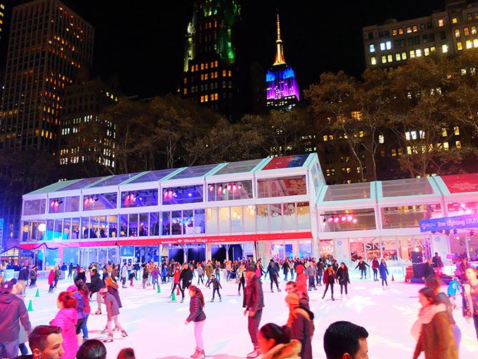 Navidades en Nueva York - Patinando en Bryant Park