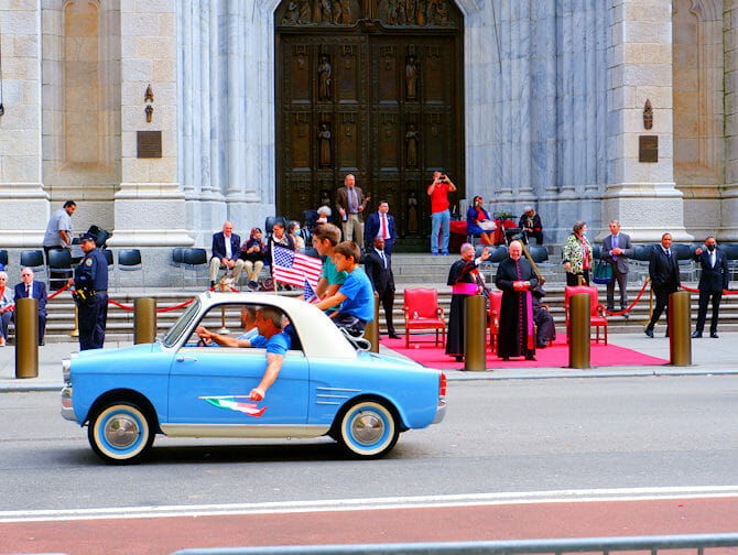 Columbus Day en Nueva York- estudiantes italianos