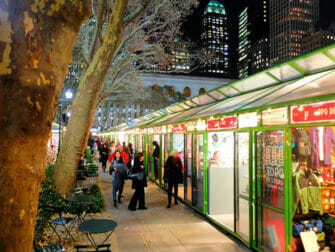 Mercados en Nueva York - Decoración Bryant Park