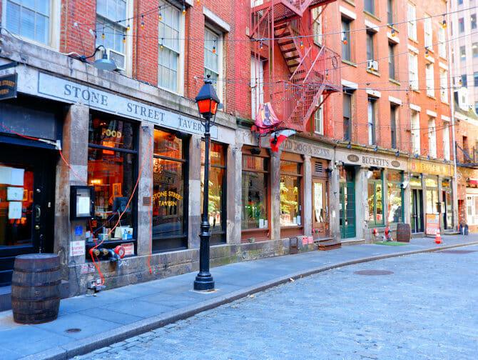 Lower Manhattan en NYC - calle