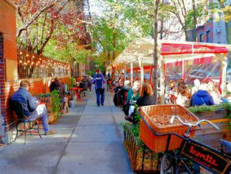 Greenwich Village en Nueva York - carril bici