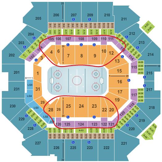 Tickets para los New York Islanders - Plano del Barclays Center
