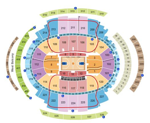 Tickets para los New York Knicks - Plano del Madison Square Garden