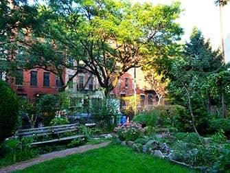 Hells Kitchen en NYC - Clinton Community Garden