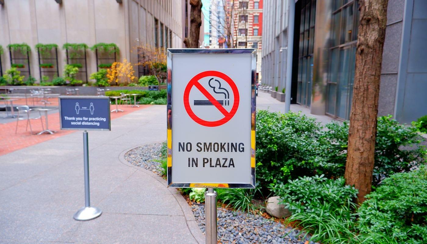 Fumar en Nueva York - Prohibido fumar