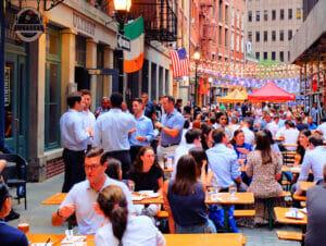 Restaurantes en Stone Street en Nueva York