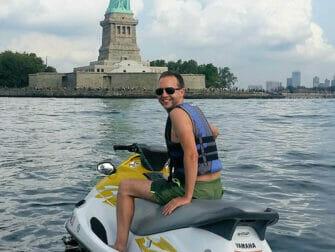 Jet ski en Nueva York - Estatua de la Libertad