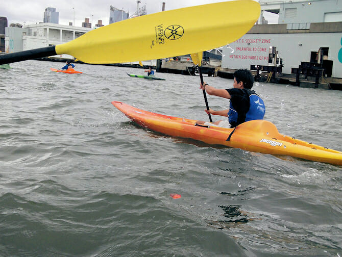 Kayak en Nueva York - Rio Hudson