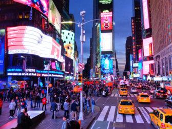 Bus hop on hop off Gray Line en Nueva York - Tour nocturno
