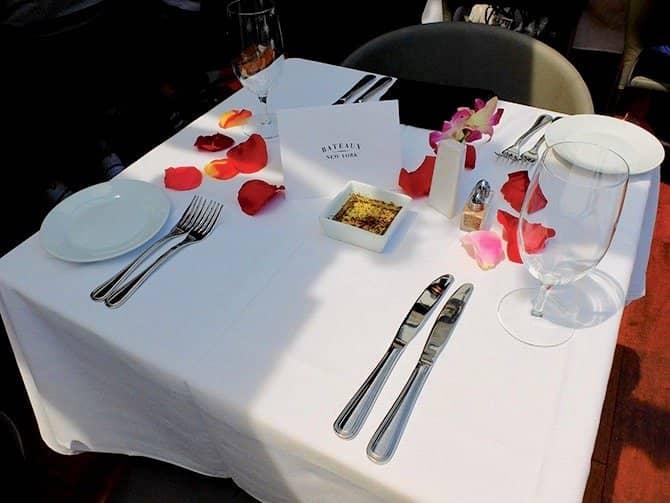Bateaux crucero con almuerzo en Nueva York - Almuerzo romántico