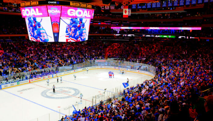 NHL hockey sobre hielo en Nueva York