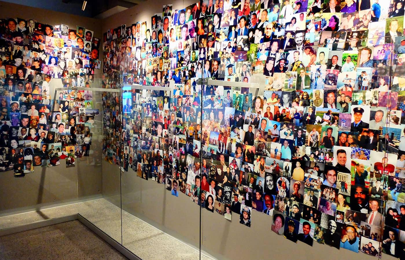 911 Tribute Museum en Nueva York - Muro