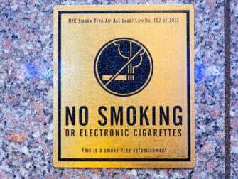 Fumar en Nueva York