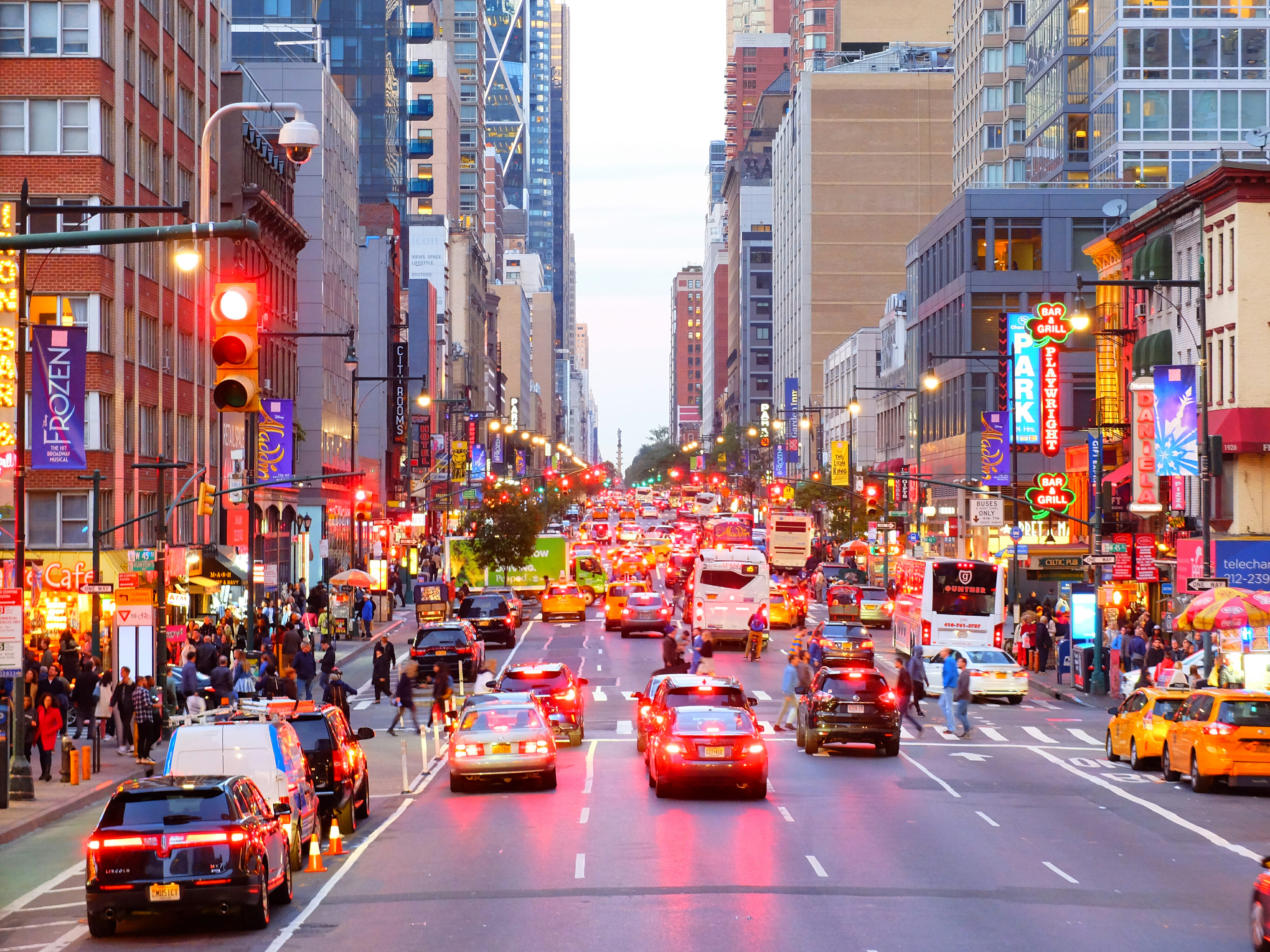 8th Avenue in New York High Quality Wallpaper