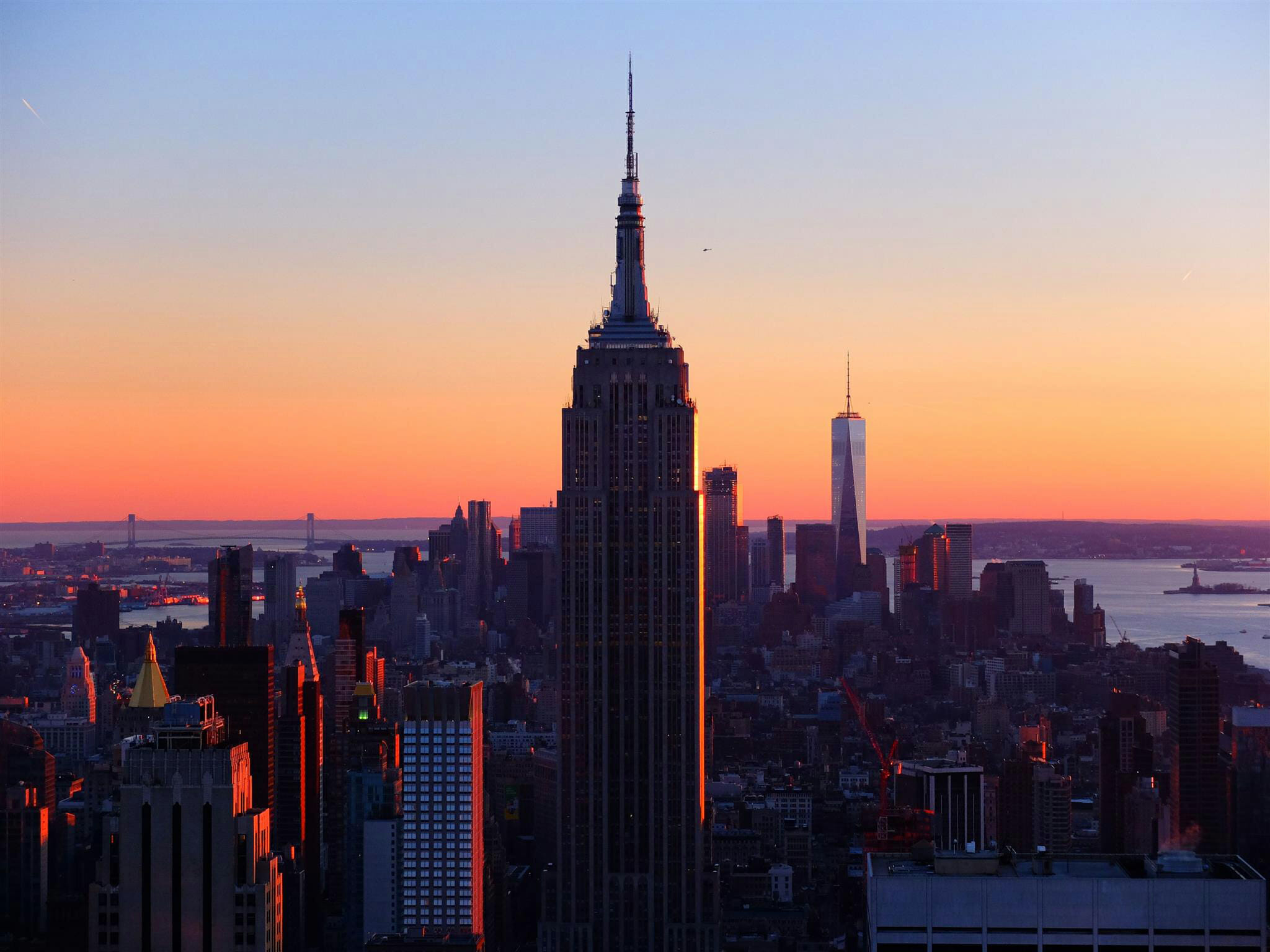 Empire State Building Sunset High Quality Wallpaper