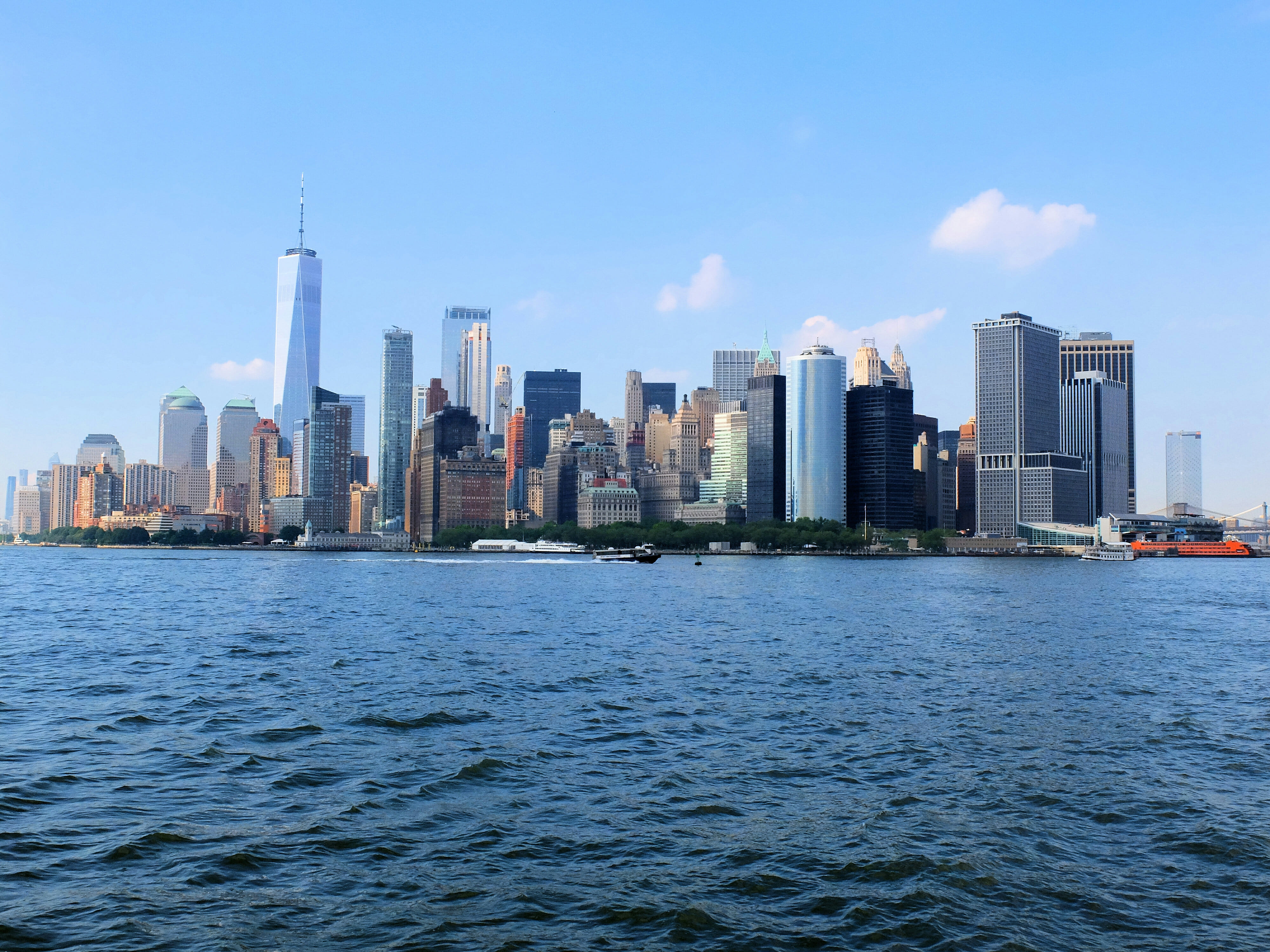 NYC Skyline from cruise High Quality Wallpaper