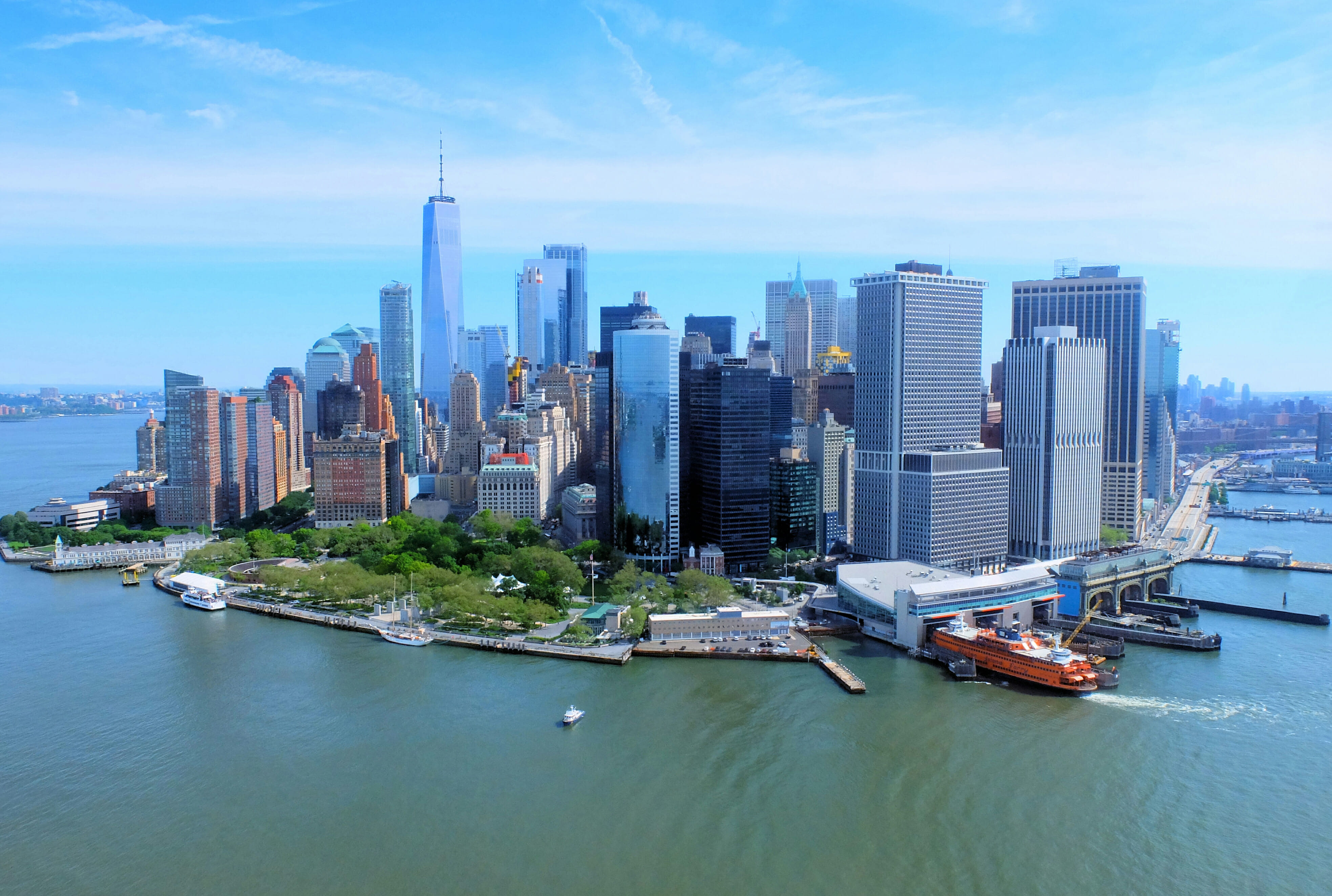 New York Helicopter Tour Skyline High Quality Wallpaper