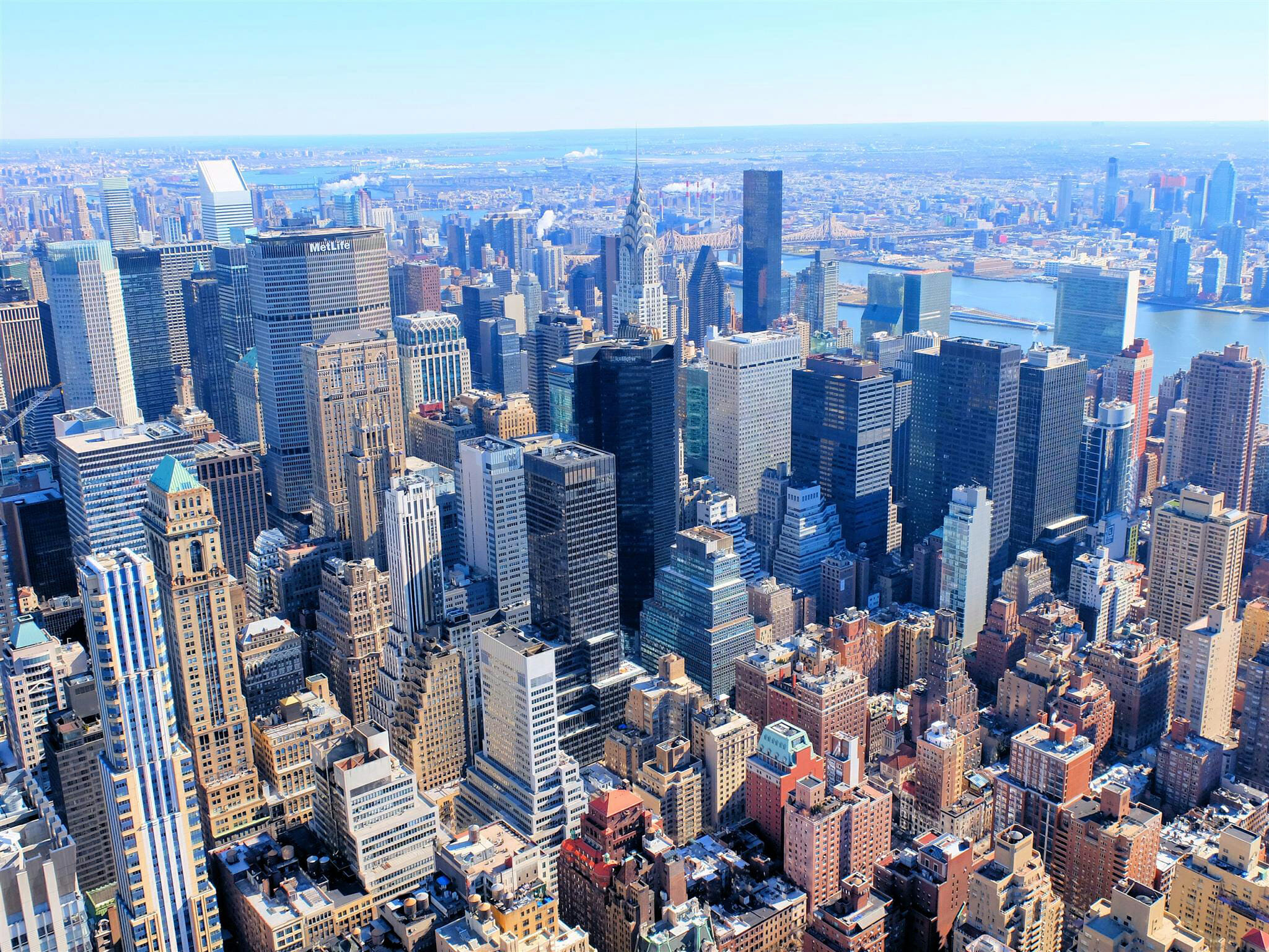 View from Empire State Building High Quality Wallpaper