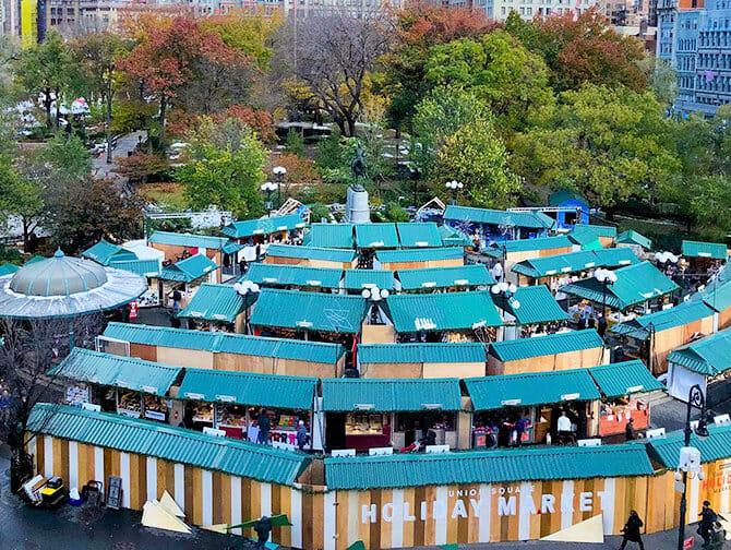 Mercados navideños en Nueva York - Union Square