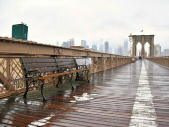 La lluvia en Nueva York - Brooklyn Bridge