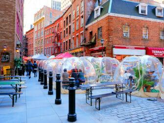 Nueva York está vacunando a turistas - Stone Street en Nueva York