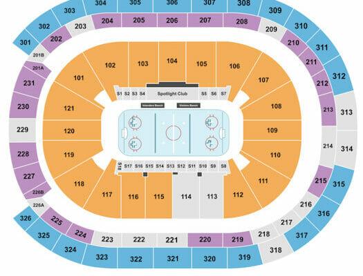 Tickets para los New York Islanders - Plano de asientos